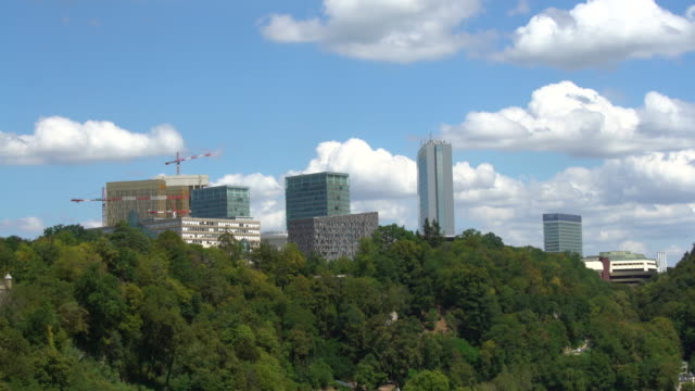 Business District Luxembourg, time lapse