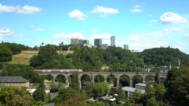 vidéos et rushes de quartier d'affaires de luxembourg - grand duché du luxembourg