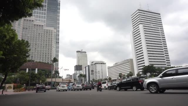 vídeos y material grabado en eventos de stock de business district of jakarta - yakarta