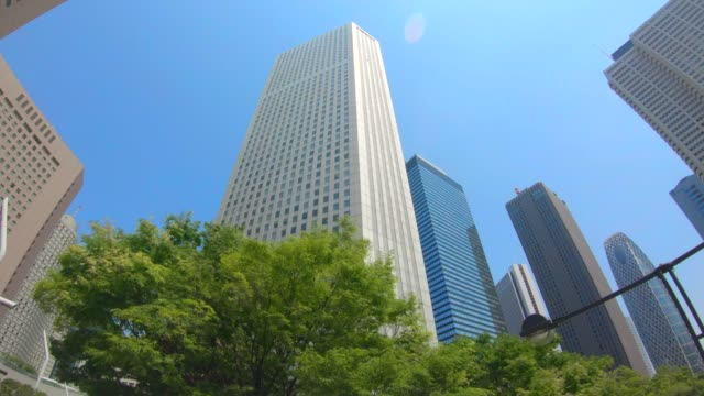 business district shinjuku skyscrapers - office block exterior stock videos & royalty-free footage