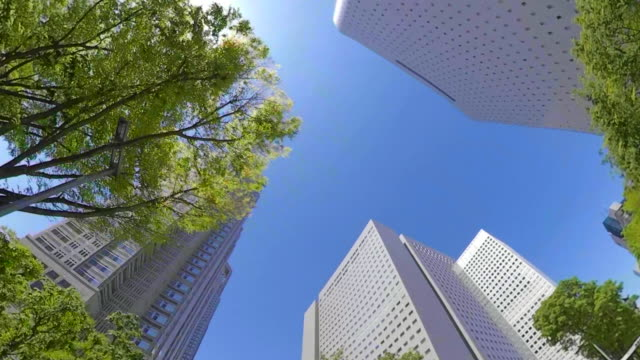 business district skyscrapers / look up at the sky - low angle view stock videos & royalty-free footage