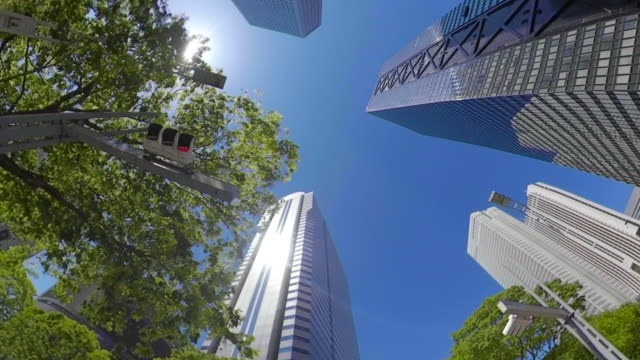business district skyscrapers / look up at the sky - plusphoto stock videos & royalty-free footage