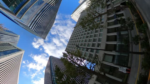 business district skyscrapers. look up at the sky - real estate stock videos & royalty-free footage