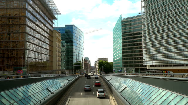 business districtt in brussels - regione di bruxelles capitale video stock e b–roll