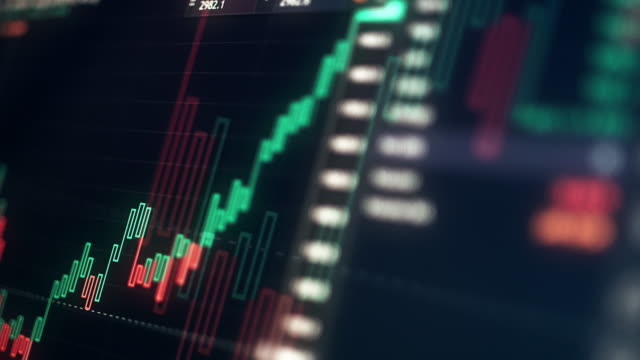vidéos et rushes de business exchange currency chart contexte 4k - échange commercial