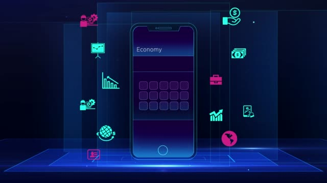 vídeos de stock e filmes b-roll de business, finance and mobile technology - software de computador