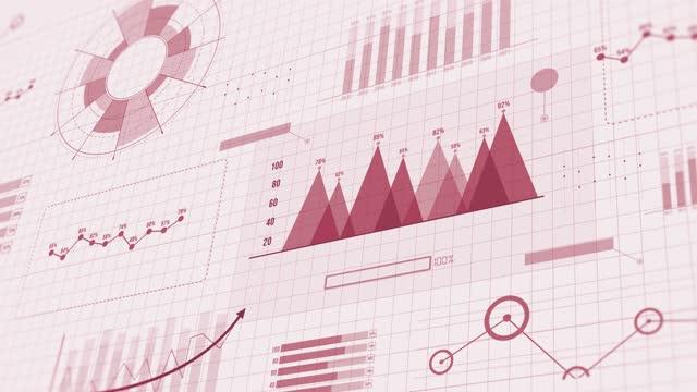 vídeos y material grabado en eventos de stock de fondo de movimiento de introducción financiera empresarial hud fondo - infografía
