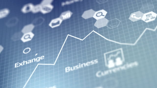 vídeos y material grabado en eventos de stock de fondo de negocios genérico intro - devaluation
