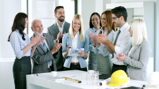 Business Gruppe Gratulieren