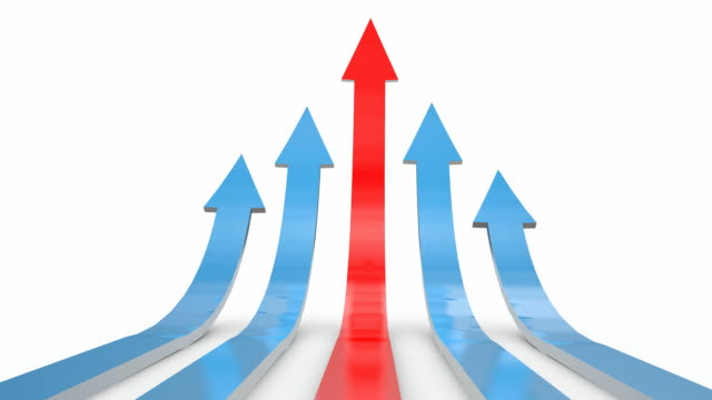business growth arrows - moving up stock videos & royalty-free footage
