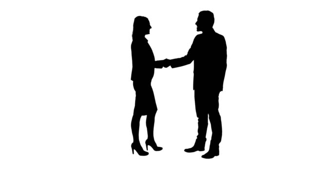 business handshake - silhouette stock videos & royalty-free footage