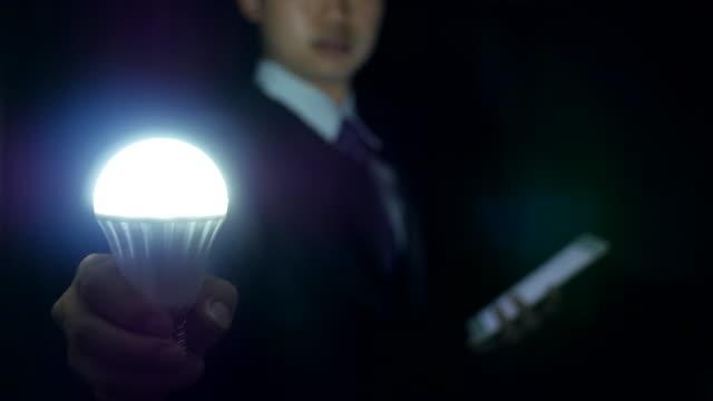 Business idea with holding digital teblet