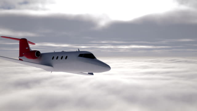 business jet in flight - private airplane stock videos and b-roll footage