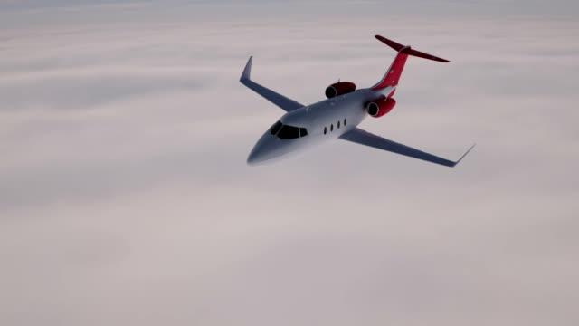 business jet-flugzeug - flugzeug in der luft stock-videos und b-roll-filmmaterial