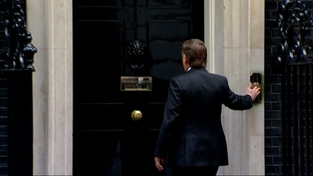 business leaders meeting in downing street arrivals england london downing street ext unidentified arrivals at number 11/ unidentified business... - richard sainsbury stock videos & royalty-free footage