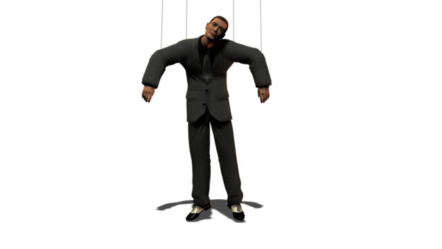 business man as puppet - puppet stock videos & royalty-free footage