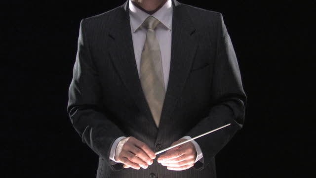 business man conducts his team - conductor stock videos & royalty-free footage