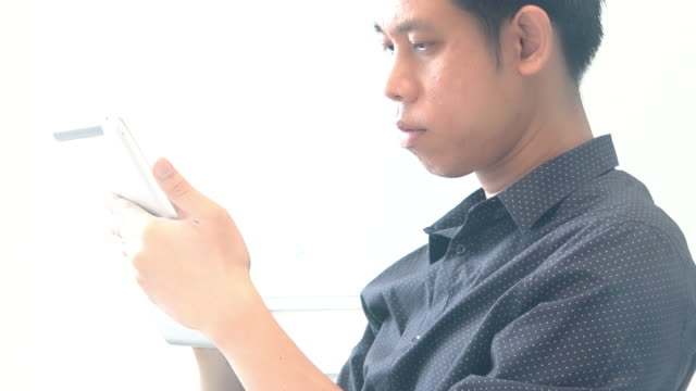 Business man having video conference call inside meeting room