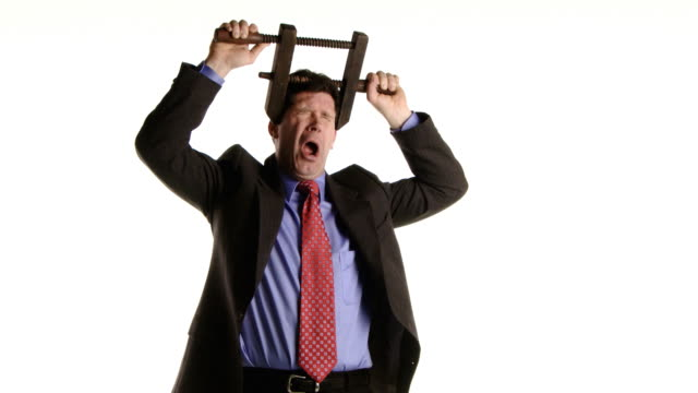 business man is in pain - ugliness stock videos & royalty-free footage