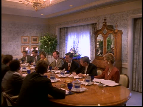 business meeting at table in fancy conference room / ritz carlton, naples, fl - board room stock videos & royalty-free footage