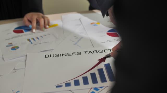 ビジネス目標のビジネスミーティング - 従業員エンゲージメント点の映像素材/bロール