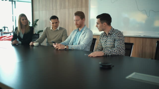 business meeting in a board room. - conference table stock videos & royalty-free footage
