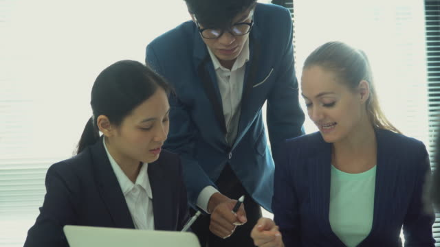 business meeting in office - east asian ethnicity stock videos & royalty-free footage