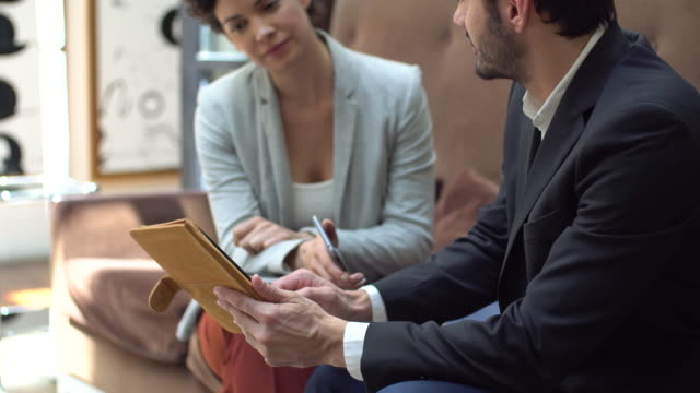 business meeting - two people stock videos & royalty-free footage