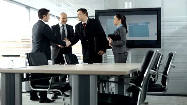 hd dolly: business meeting - business relationship stock videos and b-roll footage