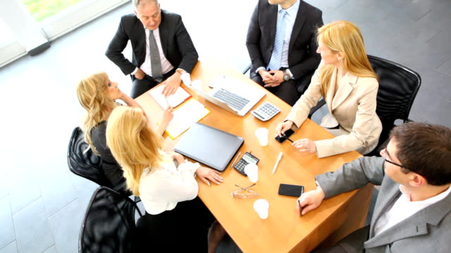 business meeting. - conference table stock videos & royalty-free footage