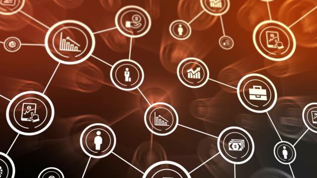 business network ikoner flyger, shine, blå - binär kod bildbanksvideor och videomaterial från bakom kulisserna