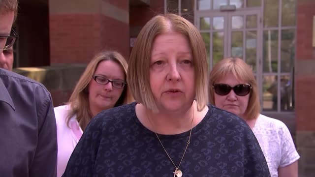 business owner found guilty of deaths over fire at store 'rammed' full of fireworks england staffordshire stafford crown court ext family of stewart... - stafford england stock videos and b-roll footage