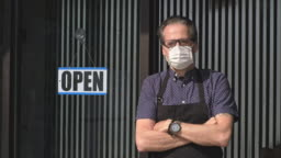 Business Owner Opening After Quarantine