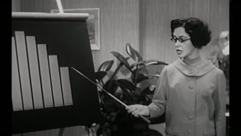 vídeos y material grabado en eventos de stock de 1959 business owner (susan cabot) questions meeting room full of men about decline in company sales - rebajas