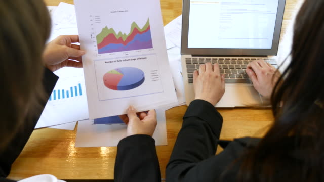 Business people Analyzing Market Research