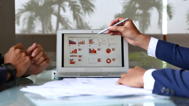 business people analyzing market research - market research stock videos and b-roll footage