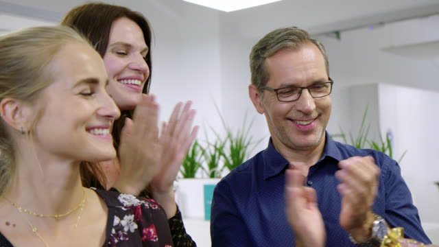 business people applauding for a colleague - admiration stock videos & royalty-free footage