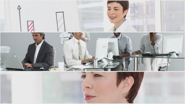 stockvideo's en b-roll-footage met cu business people at work / cape town, western cape, south africa - medewerkerbetrokkenheid