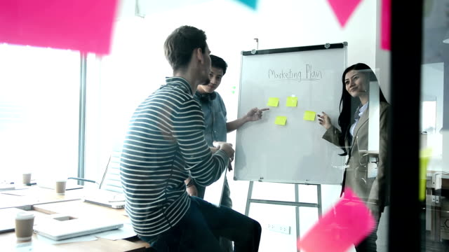 business people brainstorming idea with business team in conference room at modern office, businessmen and businesswoman discussing in the meeting room. - employee engagement stock videos & royalty-free footage