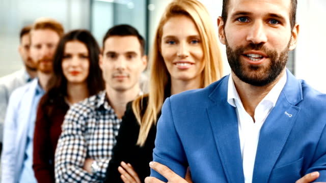 business people in a row. - web designer stock videos & royalty-free footage