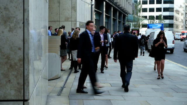 business people in london fenchurch street - city of london stock videos & royalty-free footage