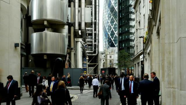 Gens d'affaires à Londres, Lime Street (4 k UHD à haute définition /