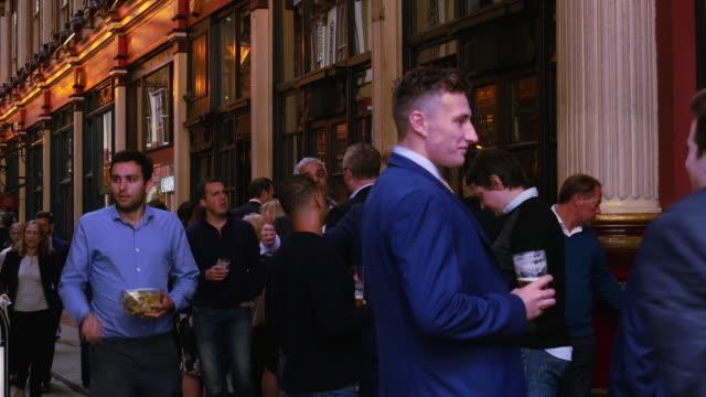 Business People Taking A Break In London Leadenhall Market (UHD)