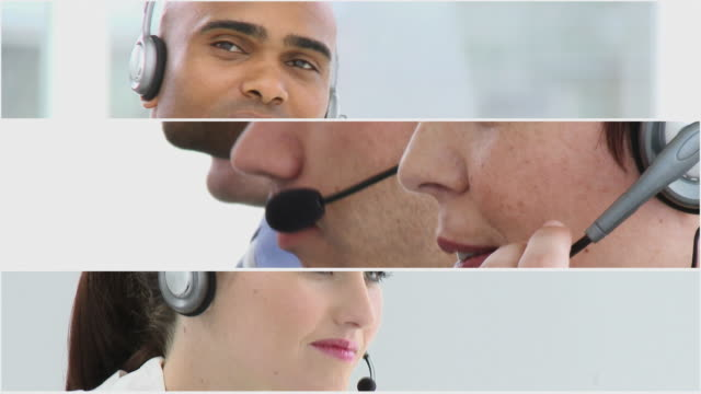CU Business people using headset / Cape Town, Western Cape, South Africa
