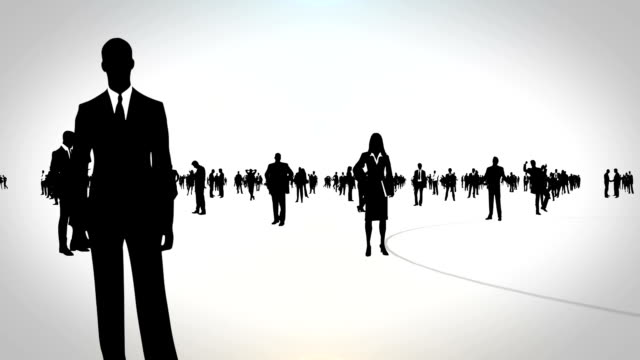 business people - standing out from the crowd stock videos & royalty-free footage