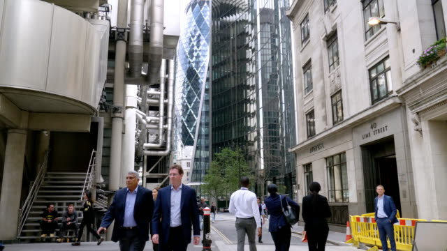 Business People Walking in the City of London