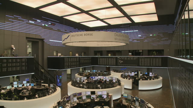 ms business people working in frankfurt stock exchange / hanau, hesse, germany - frankfurt stock exchange stock videos and b-roll footage
