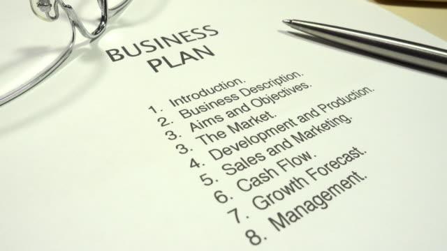 business plan - strategia di vendita video stock e b–roll
