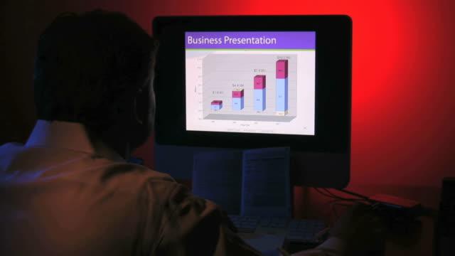 business presentation, computer error, businessman, marketing - felmeddelande bildbanksvideor och videomaterial från bakom kulisserna