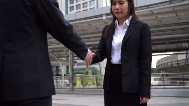 Business Shaking Hands for Accept Agreement at Outdoor, Business Concept